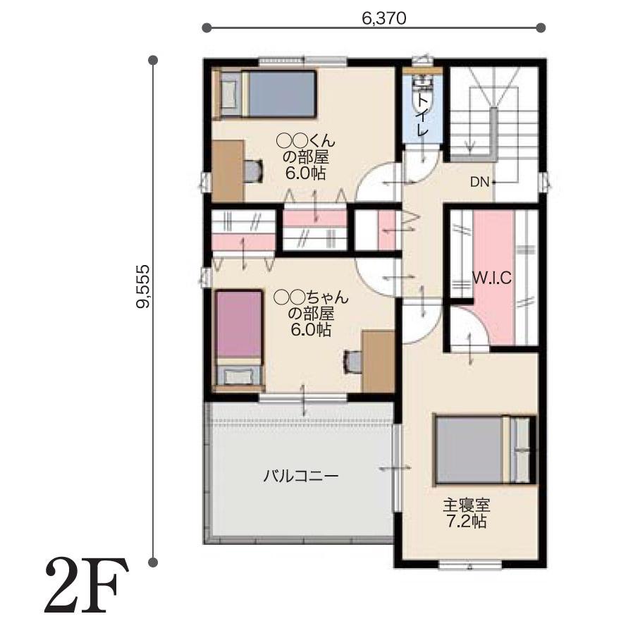 2階間取り