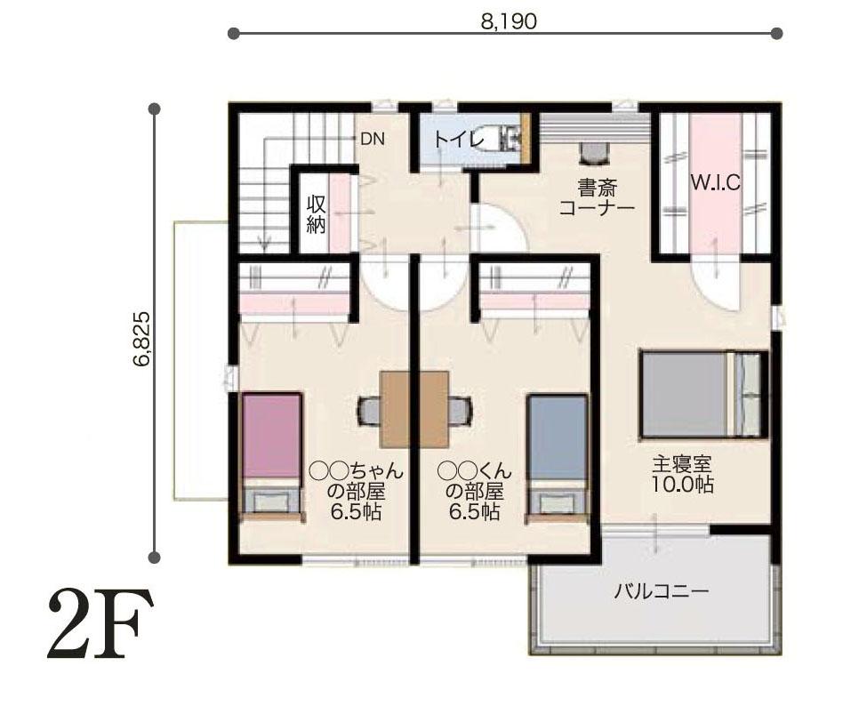 2階間取り図