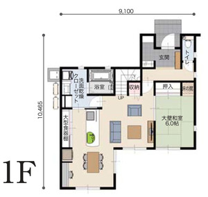 注文住宅の間取図