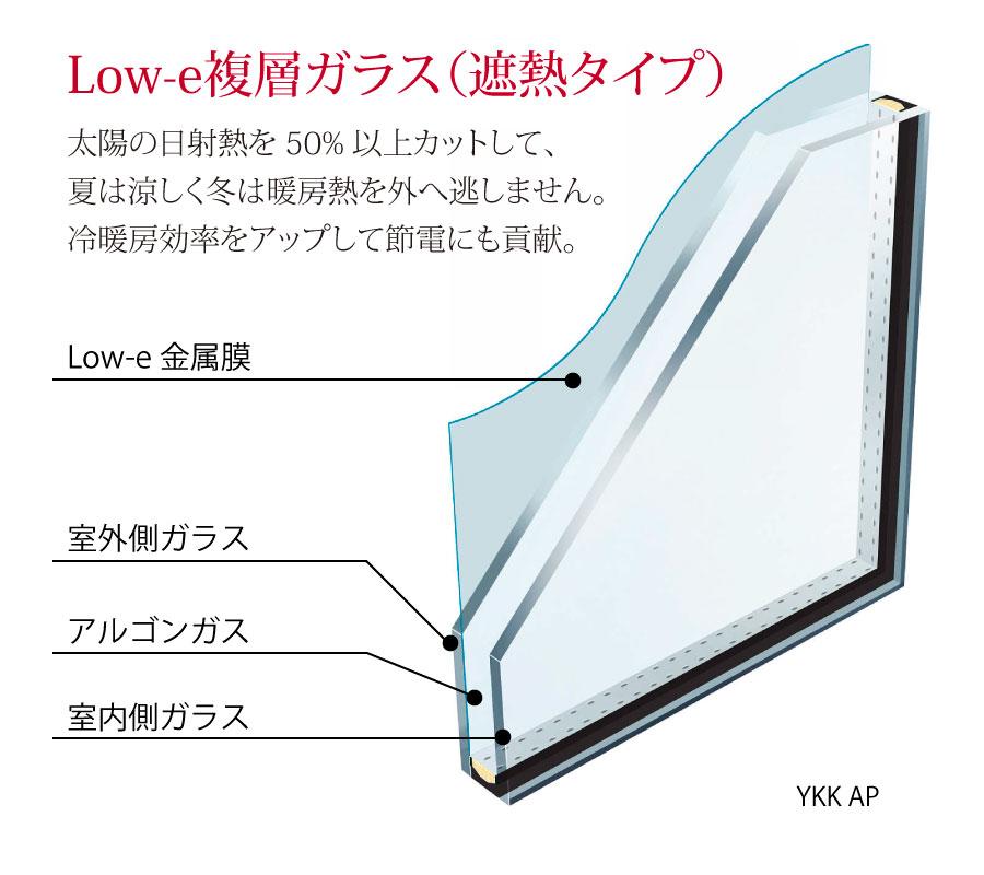 Low-e複層ガラス(遮熱タイプ) YKKAP