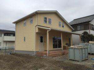 施工中の注文住宅
