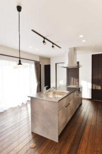 注文住宅の施工実例キッチン