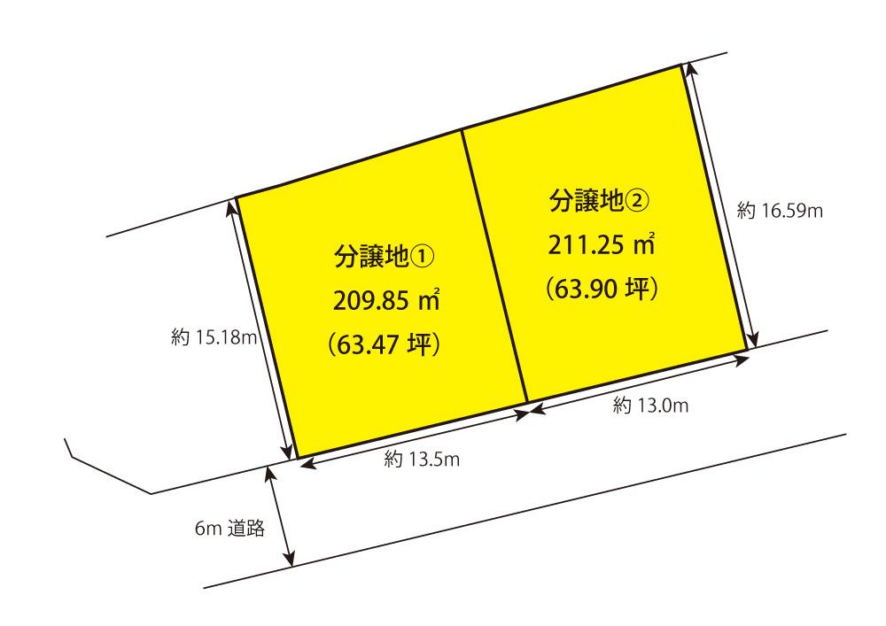 砥上町分譲地 区画図